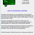 KeyFinder v1.25 - страница скачивания